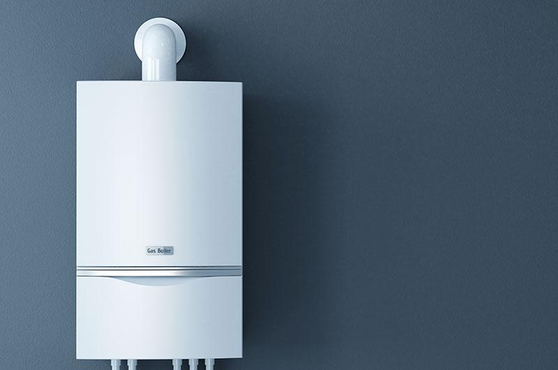 boiler mounted on wall